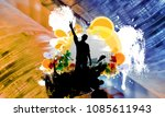 abstract background with... | Shutterstock . vector #1085611943