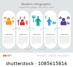 infographics design vector with ... | Shutterstock .eps vector #1085615816