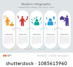 infographics design vector with ... | Shutterstock .eps vector #1085615960