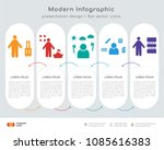 infographics design vector with ... | Shutterstock .eps vector #1085616383