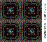 ethnic colorfull background... | Shutterstock .eps vector #1085617013