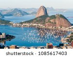 amazing view of guanabara bay...   Shutterstock . vector #1085617403