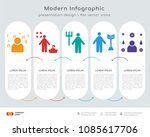 infographics design vector with ... | Shutterstock .eps vector #1085617706