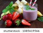 homemade antioxidant summer... | Shutterstock . vector #1085619566