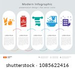 infographics design vector with ... | Shutterstock .eps vector #1085622416