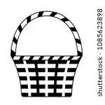 vector wicker basket isolated... | Shutterstock .eps vector #1085623898