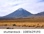 licancabur is a volcano located ... | Shutterstock . vector #1085629193