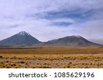 licancabur is a volcano located ... | Shutterstock . vector #1085629196