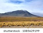 licancabur is a volcano located ... | Shutterstock . vector #1085629199