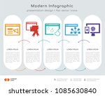 infographics design vector with ... | Shutterstock .eps vector #1085630840
