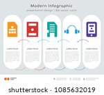 infographics design vector with ... | Shutterstock .eps vector #1085632019
