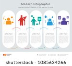 infographics design vector with ... | Shutterstock .eps vector #1085634266