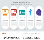 infographics design vector with ... | Shutterstock .eps vector #1085634338