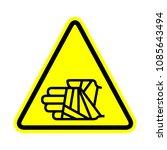 hand with bandage icon  warning ... | Shutterstock .eps vector #1085643494