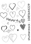 hand drawn heart icon  can be... | Shutterstock . vector #1085644229