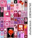 pop art vector collage with...   Shutterstock .eps vector #1085644760