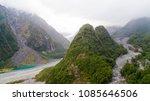 aerial view of franz josef... | Shutterstock . vector #1085646506