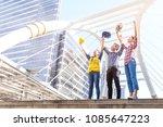 great job  multiethnic diverse... | Shutterstock . vector #1085647223