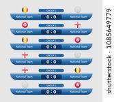 match schedule group g vector... | Shutterstock .eps vector #1085649779