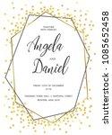 wedding gold dot 1   Shutterstock .eps vector #1085652458