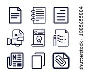 set of 9 file outline icons... | Shutterstock .eps vector #1085655884