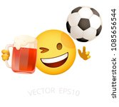 football fan emoji. vector...   Shutterstock .eps vector #1085656544