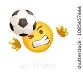 football goalie emoji. vector...   Shutterstock .eps vector #1085657666