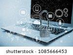 data management platform concept   Shutterstock . vector #1085666453