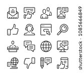 communication line icons set.... | Shutterstock .eps vector #1085666849