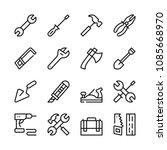 tools line icons set. modern... | Shutterstock .eps vector #1085668970