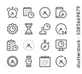 time line icons set. modern... | Shutterstock .eps vector #1085669879