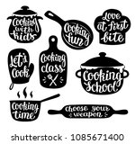 collection of cooking label or... | Shutterstock .eps vector #1085671400