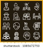 set of 16 people outline icons... | Shutterstock .eps vector #1085672753