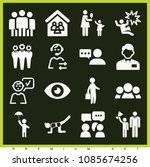 set of 16 people filled icons... | Shutterstock .eps vector #1085674256