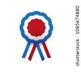 cockade  rosette with ribbon ... | Shutterstock .eps vector #1085674880