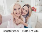 self portrait of pretty... | Shutterstock . vector #1085675933