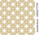 golden abstract geometric... | Shutterstock .eps vector #1085677739