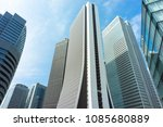skyscrapers at nishi shinjyuku  ... | Shutterstock . vector #1085680889