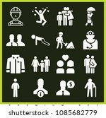 set of 16 man filled icons such ... | Shutterstock .eps vector #1085682779