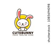 cute rabbit bunny logo... | Shutterstock .eps vector #1085694098