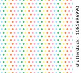 polka dots pattern colorful...   Shutterstock .eps vector #1085696990
