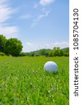 golf course where the turf is...   Shutterstock . vector #1085704130