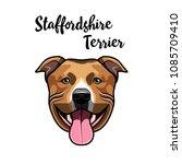 american staffordshire terrier... | Shutterstock .eps vector #1085709410