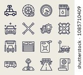 set of 16 car outline icons... | Shutterstock .eps vector #1085710409