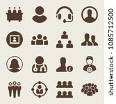 set of 16 user filled icons... | Shutterstock .eps vector #1085712500
