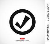 confirm icons  stock vector...   Shutterstock .eps vector #1085712644