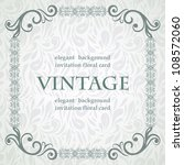 vintage card with elegant frame ... | Shutterstock .eps vector #108572060