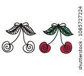 cherry. vector illustration | Shutterstock .eps vector #1085727224