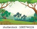 printillustration of forest... | Shutterstock . vector #1085744126