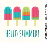 summer popsicle composition  ... | Shutterstock .eps vector #1085744789